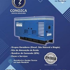 Grupo gerador diesel trifásico