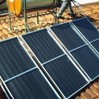 Placa de energia solar para residência